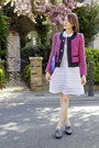 Claudie-pierlot-dress-jcrew-jacket-rebecca-minkoff-bag