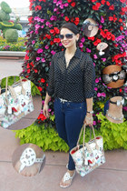 Disney Parks watch - dark blue XXI denim jeans - Doone & Burke bag