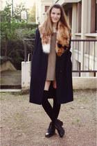 hm scarf - vintage shoes - vintage dress - vintage coat
