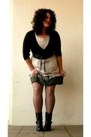 dress - tights - shoes - belt