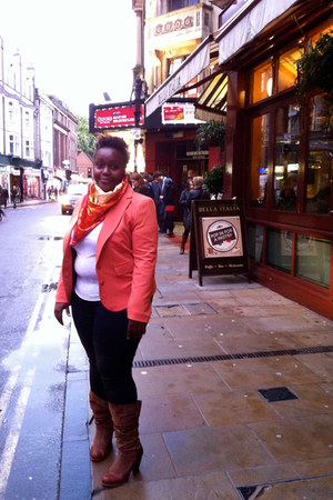 color Primark blazer - casual Dorothy Perkins jeans - chic Primark scarf