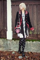 black XS punk jacket - white LDS dress - black Varusteleka scarf