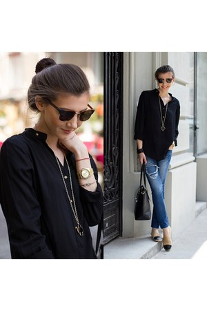 black Sheinsidecom blouse