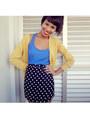Black-skirt-skirt-yellow-long-cardigan-cardigan-blue-blouse-blouse