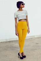 Pants Velvet Yellow