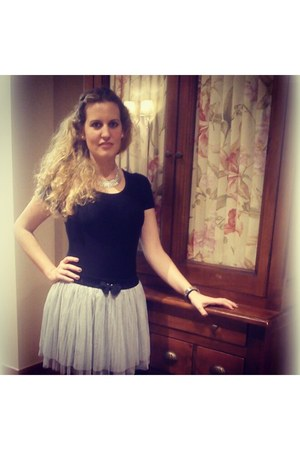 tulle kling skirt - Bershka heels