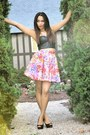 Francescas-necklace-black-urban-outfitters-top-diy-skirt