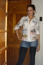 Blue-diy-shorts-shorts-white-print-desigual-blouse