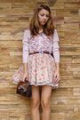 Pink-mango-cardigan-beige-bershka-skirt-purple-random-belt-brown-vintage-p