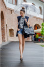 Heather-gray-oasap-shirt-blue-bershka-shorts-navy-old-vest