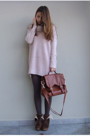 H&amp;M sweater - Bershka shoes - H&amp;M bag