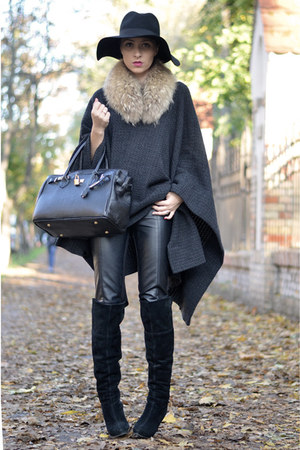black bb up boots - black Beny Style bag