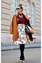 beige Front Row Shop skirt - ruby red nowIStyle sweater