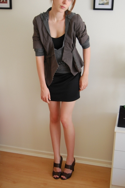 Veronika Maine jacket - Miss Shop top - intimate - Mollini shoes