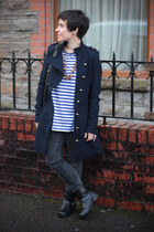 fred mello jacket - Peacocks boots - H&M jeans - House of Fraser necklace