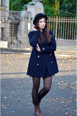 navy H&M coat