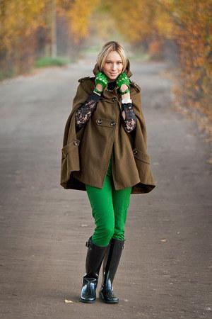 asoscom cape - Aldo boots - Zara pants