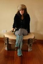 jacket - Express blouse - shorts - tights - boots