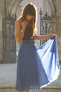Blue-blue-skirt-dark-brown-belt-black-top