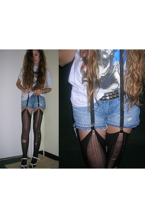 vintage shirt - Old Navy shorts - DIY stockings - Hot Topic accessories - Madden