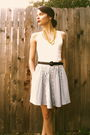Blue-skirt-white-gap-top-yellow-necklace-blue-belt-blue-margaret-smith-p