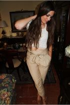 Zara pants - Mango shoes - vintage top