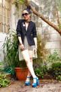Black-blazer-pixie-sunglasses-tulle-ana-gonzlez-skirt-vintage-bodysuit