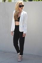 black Tobi sunglasses - black Angl top - ivory Shoedazzle sandals