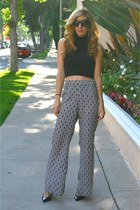 black foreign exchange top - white Blush Boutique pants