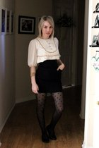 white Erin Fetherston for Target dress - black Ebay skirt - black Target stockin