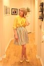Yellow-vintage-shirt-white-ebay-skirt-yellow-target-shoes
