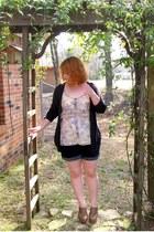 modcloth top - torrid shorts - Simply Vera Vera Wang cardigan