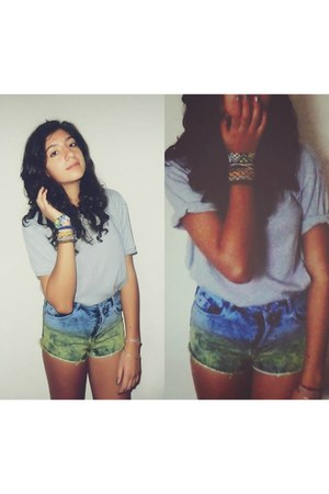 navy Topshop shorts