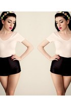 disco shorts American Apparel shorts - light pink Glamorous UK bodysuit