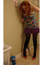 Wal Mart skirt - Wal Mart top - payless socks - Wal Mart tights
