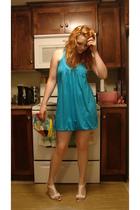 garage dress - Wal Mart shoes - purse - elle earrings