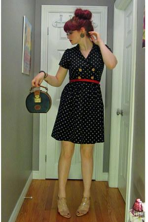 navy Forever21 dress - navy dooney & burke purse