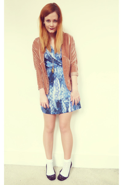 sky blue printed Urban Outfitters dress