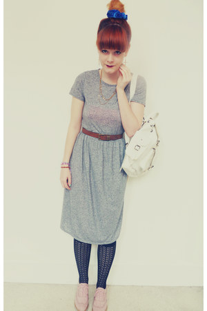 leather Grafea bag - new look shoes - Topshop dress