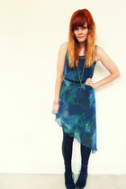 teal galaxy romwe dress