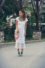 White-crochet-vintage-dress-eggshell-urban-outfitters-bag