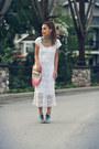 White-crochet-vintage-dress-eggshell-urban-outfitters-bag