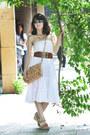 Mustard-olivi-bag-white-cotton-la-redoute-skirt