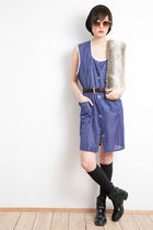 blue oh leoluca vest - garde robe boots