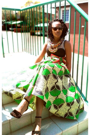 african print LMClothing skirt - african print ruthie o collection necklace