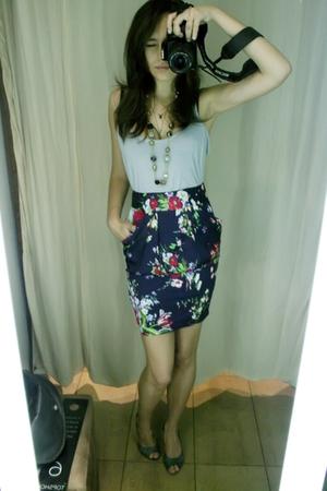 Newlook top - Topshop skirt - Terranova shoes
