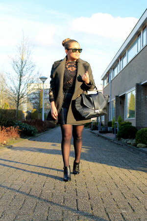 army H&M coat - leather asos boots - faux leather Pimkie bag