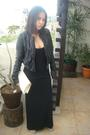 Black-zara-jacket-black-torn-dress-gray-jill-sander-shoes-white-prada-purs