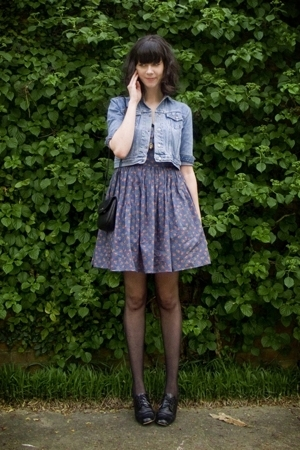 modcloth dress - jacket - purse - Wal Mart tights - shoes