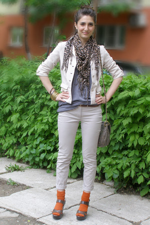 beige Mango blazer - light brown Accesorize bag - brown il passo sandals - carro